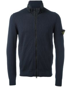 Stone Island | High Neck Zipped Sweatshirt Small Cotton/Polyamide/Polyurethane