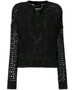 Designers Remix | Lace-Up Open Knit Blouse