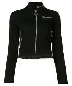 Marques Almeida   Marquesalmeida High Neck Cropped Jacket Small Cotton