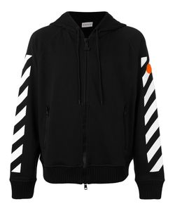Moncler x Off-White | Striped Sleeves Zipped Hoodie Size Medium