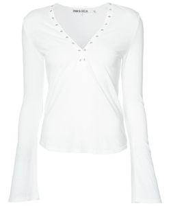 PAM & GELA | Eyelet Neckline T-Shirt Size Medium