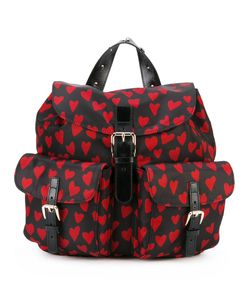 Red Valentino | Heart Print Flap Backpack