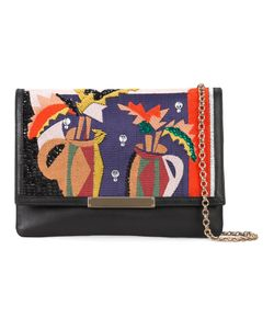 LIZZIE FORTUNATO JEWELS | Embroide Fold-Over Clutch Leather