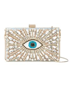 Gedebe | Sequin And Crystal Eye Clutch Metal