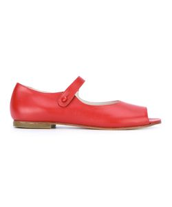 DANIELA GREGIS | Open-Toe Mary Jane Sandals Size 38 Calf