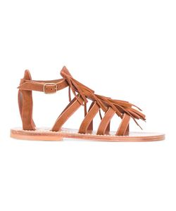 K. Jacques | Fringed Sandals 40 Leather/Suede