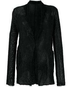 SALVATORE SANTORO | Mesh Effect Jacket 44 Leather