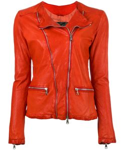 Giorgio Brato | Zip Up Jacket 40 Leather/Cotton/Nylon