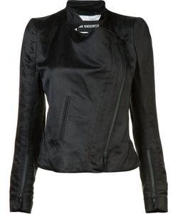 Ann Demeulemeester | Cropped Biker Jacket 38 Cotton/Rayon/Linen/Flax/Silk