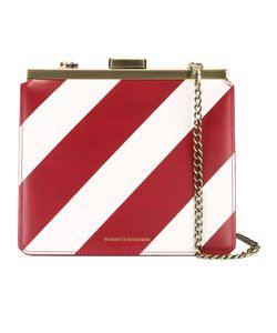 Tammy & Benjamin | Striped Shoulder Bag Calf Leather