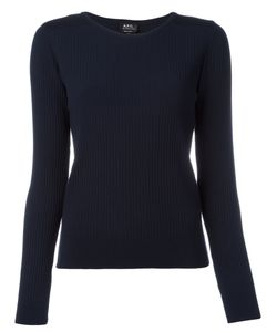 A.P.C. | A.P.C. Ribbed Detail Sweatshirt Size Xs