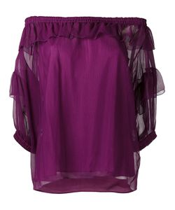 Sonia Rykiel | Off-Shoulder Ruffle Top Size 42