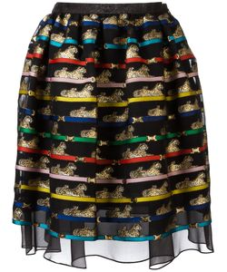 Mary Katrantzou | Tiger Print Algernon Skirt 12 Polyester/Silk