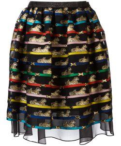 Mary Katrantzou | Tiger Print Algernon Skirt 12 Polyester/Silk