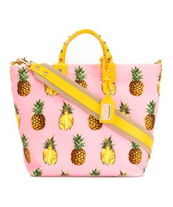 Dolce & Gabbana | Pineapple Print Tote Cotton/Leather