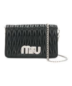 Miu Miu | Плиссированная Сумка На Плечо С Бляшкой С Логотипом