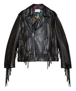 Gucci   Leather Biker Jacket 46