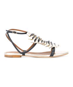MALONE SOULIERS | Ruffle Front Sandals