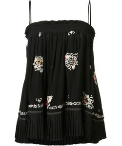 Derek Lam 10 Crosby | Embroidered Skirt Blouse Size