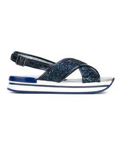 Hogan | Glitter Sling-Back Sandals 37