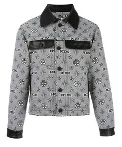Ktz | Monogram Print Shirt Jacket Small Polyester