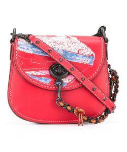 COACH | Sequins Embellished Saddle Bag Leather