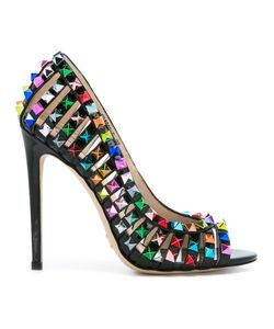 GIANNI RENZI | Studded Detail Pumps 40 Patent Leather/Leather/Metal