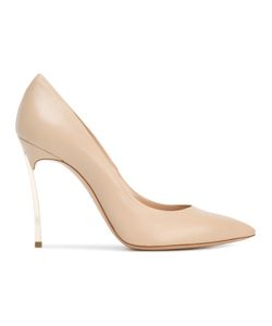 Casadei | Pointed Toe Pumps 39 Calf Leather/Leather