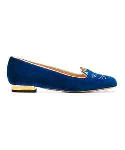 Charlotte Olympia | Cat Face Slippers 36.5 Leather/Velvet