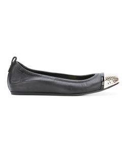Lanvin | Contrasting Toe Cap Ballerinas Size Lamb Skin/Leather/Foam