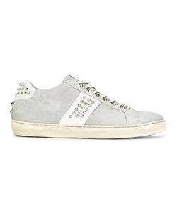 Leather Crown | Perforated Detail Sneakers 39 Cotton/Leather/Rubber