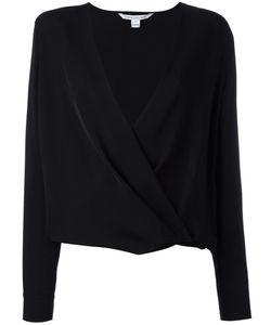 Diane Von Furstenberg | V-Neck Wrap Blouse 2 Silk