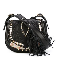 Roberto Cavalli | Studded Tassel Saddle Bag