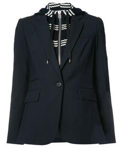 Veronica Beard | Laye Hooded Blazer 8 Virgin Wool/Spandex/Elastane