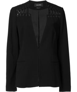 Yigal Azrouel | Lace Up Detail Blazer 8 Spandex/Elastane/Viscose