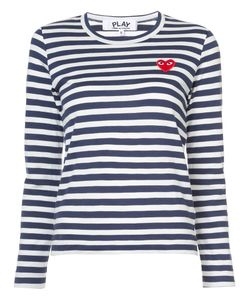 Comme des Gar ons Play | Striped Heart Patch T-Shirt Women