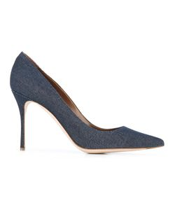 Sergio Rossi | Denim Stiletto Pumps 39 Leather/Cotton