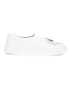 Chiara Ferragni | Embroidered Daisy Slip-On Trainers