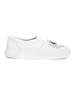 Chiara Ferragni | Embroidered Daisy Slip-On Trainers Size 39