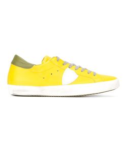 Philippe Model | Classic Lace-Up Sneakers 44 Cotton/Leather/Rubber