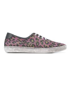 Marc Jacobs   Distressed Leopard Print Sneakers 44