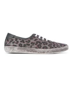 Marc Jacobs   Leopard Print Distressed Trainers 44 Calf