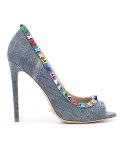 GIANNI RENZI | Studded Pumps 39 Cotton/Leather/Metal Other