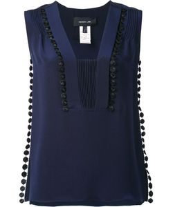 Derek Lam | Ribbed Embroide Detail Top 42 Silk