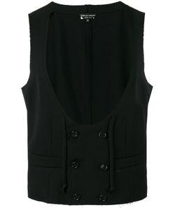 COMME DES GARCONS HOMME PLUS | Comme Des Garçons Homme Plus Scoop Neck Waistcoat Size Medium