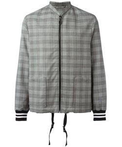Lanvin | Checked Bomber Jacket 46 Wool/Viscose/Cotton/Cotton
