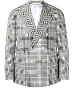 GABRIELE PASINI | Checked Double Breasted Jacket 50