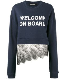 Filles A Papa | Welcome On Board Lace Sweatshirt Size 2