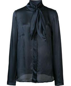 RYAN ROCHE   Neck Bow Shirt 6 Silk