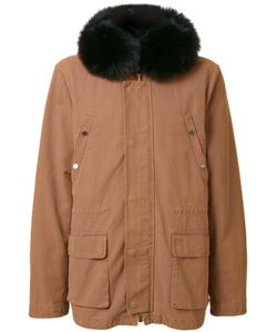 YVES SALOMON HOMME | Padded Hooded Jacket 48 Cotton/Fox